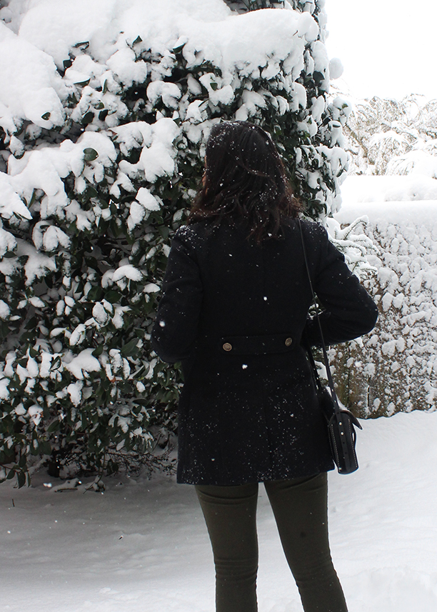 Snow in Portland // Military Style Coat