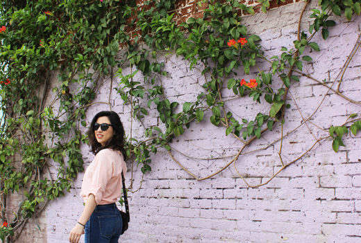 Madewell Denim and Lotta from Stockholm Clogs_Pink Shirt_Los Angeles Arts District