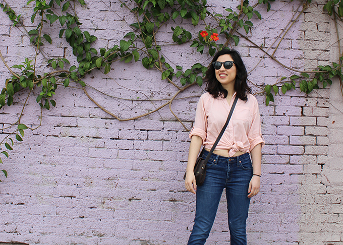 Blush Shirt and Denim