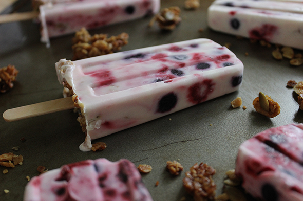 Healthy Summer Treats_Yogurt Berry Popsicles