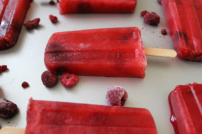 Raspberry WIne Popsicles