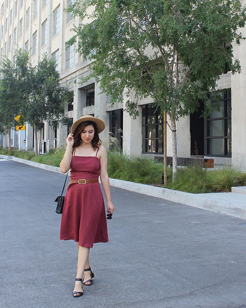 Movint Vintage Inspired Dress and Boater Hat // Row Downtown Los Angeles