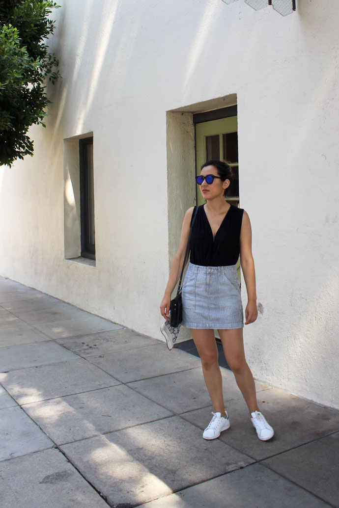 How to wear adidas Stan Smith Sneakers with skirts