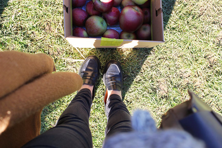 Madewell Loafers and Apple Picking in Hood River, Oregon