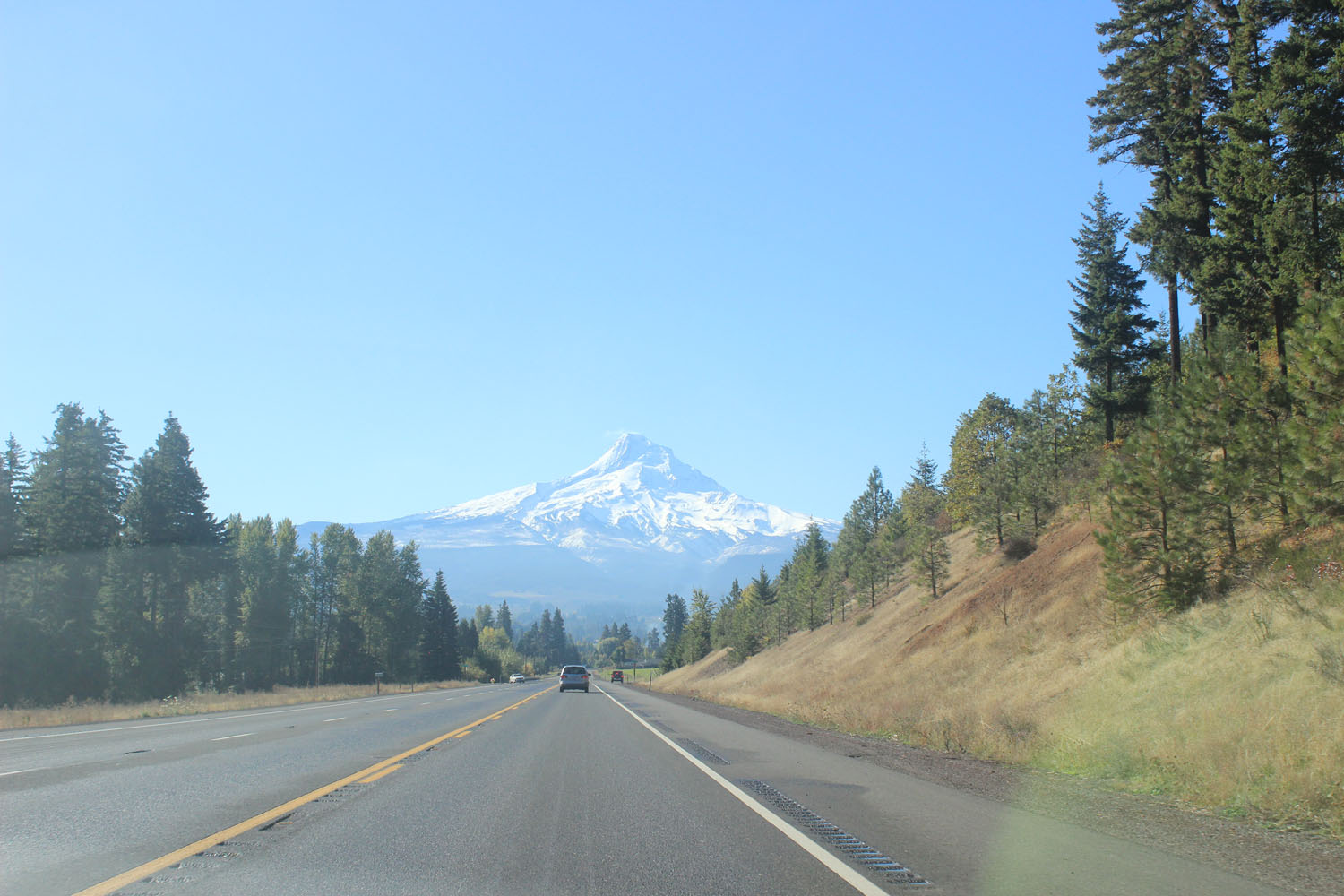 View of Mt. Hood on the way to Hood River
