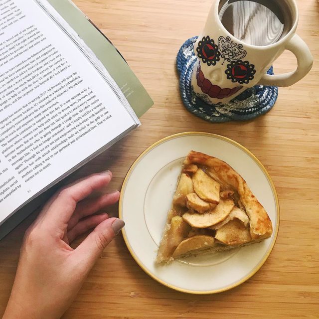 Enjoying a slow morning with a freshly baked apple galettehellip