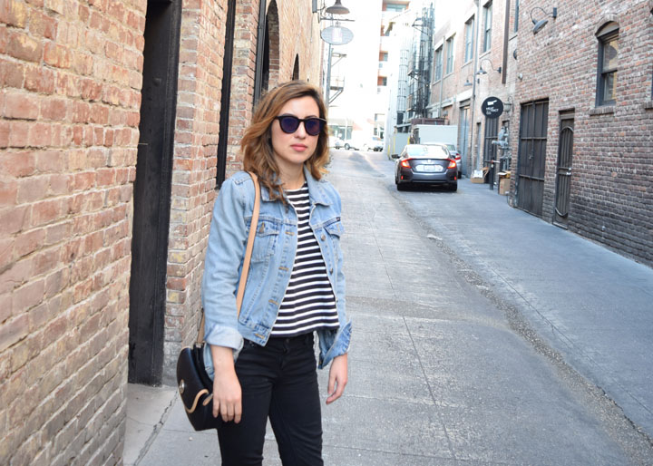 Striped Tee and Denim