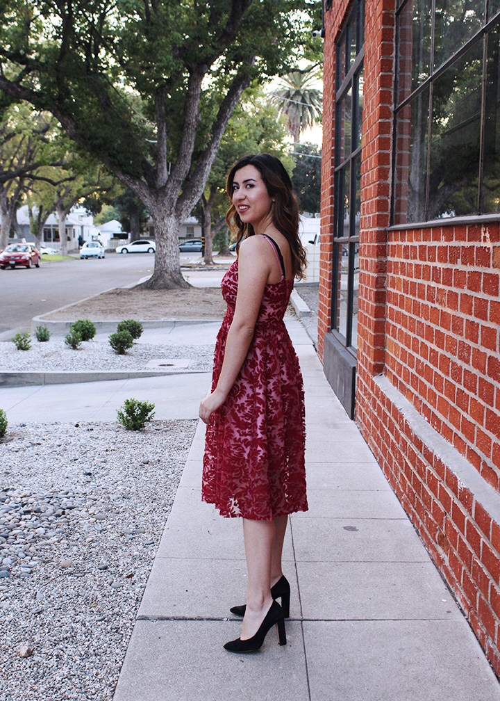 Cute and Sexy Cranberry Red Holiday Dress